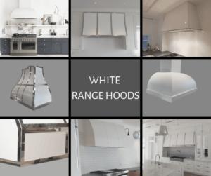white on white, white range hoods, custom range hoods, metal range hoods