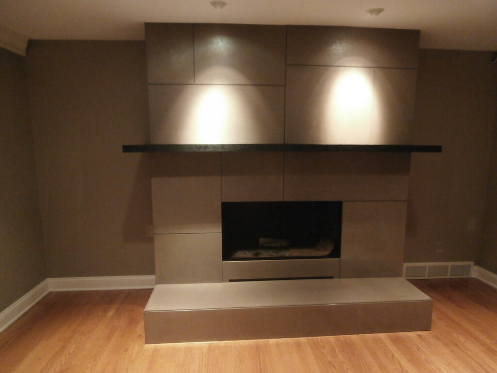 concrete fireplace surround gallery custom