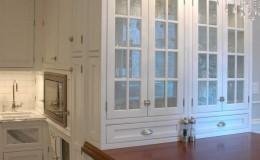Premium Wide Plank Mahogany Peninsula Countertop