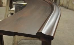 Walnut Wood Bar Top with Chicago Bar Rail