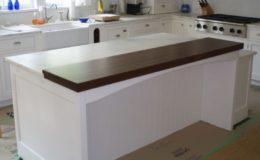 Walnut Wide Plank Raised Wood Countertop
