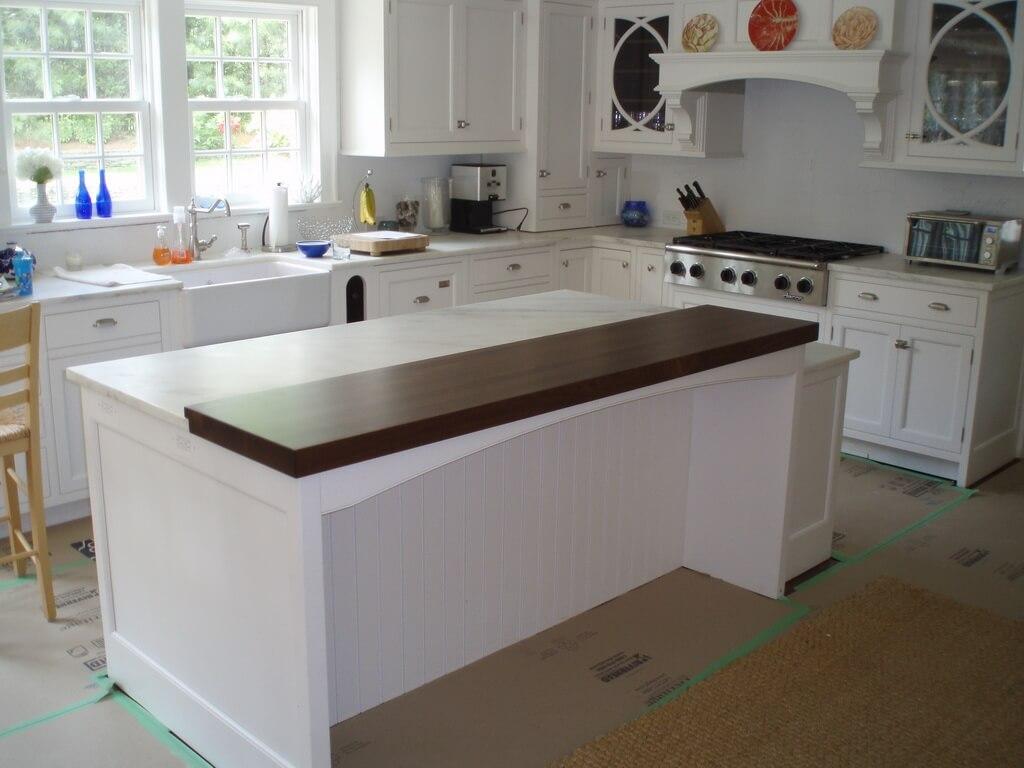Premium wide plank wood countertops brooks custom - Classic White Kitchen Brooks Custom S Wood Countertops