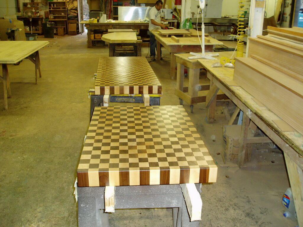 Patterned End Grain Wood Countertops Brooks Custom