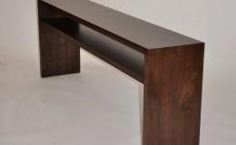 Wide Plank Walnut Waterfall Style Wood Countertop