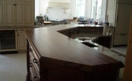 Wide Plank Walnut Raised Wood Bar Top