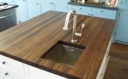 Edge Grain Walnut Wood Countertop