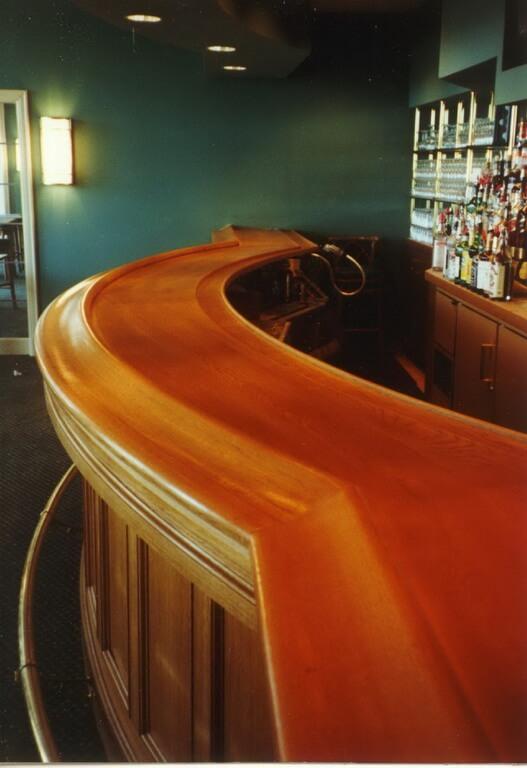 Premium Wide Plank Wood Bar Tops Brooks Custom