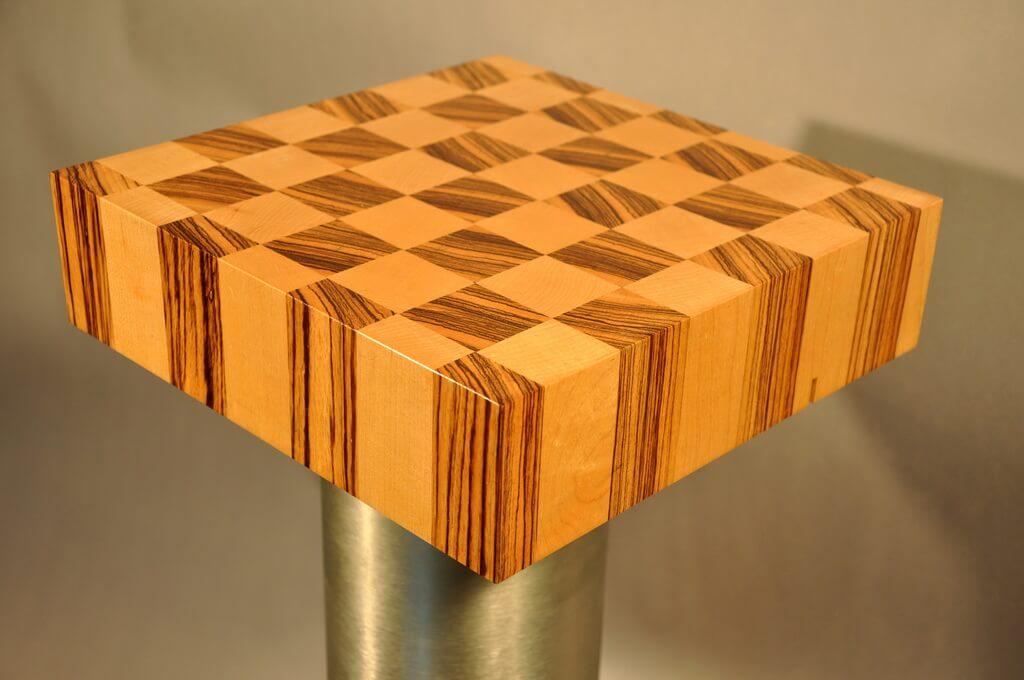 Maple And Zebrano End Grain Butcherblock Wood Countertop
