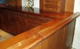 Classic Cherry Wood Bar Rail on Swinging Door