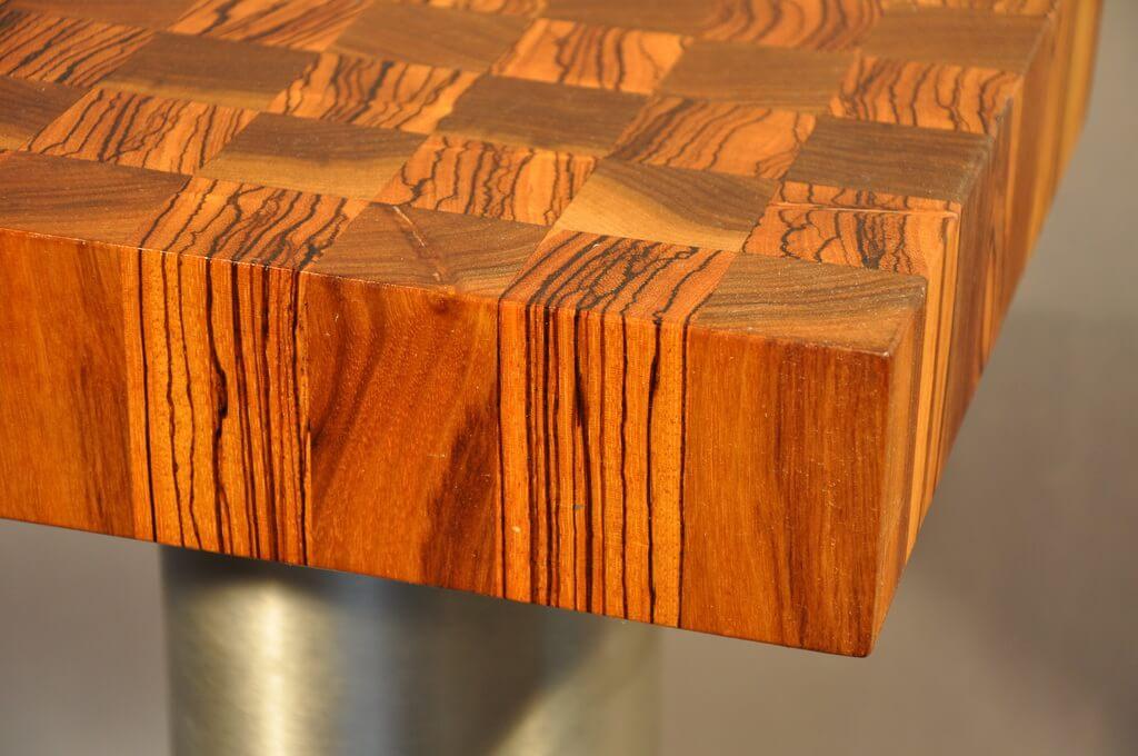 ... Zebrano And Walnut End Grain Wood Countertop ...