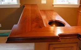 Teak Wide Plank Upper Bar Top