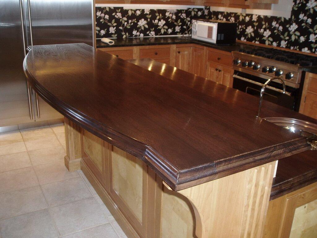 ... Raised Wood Bar Top In A Wine Room ...