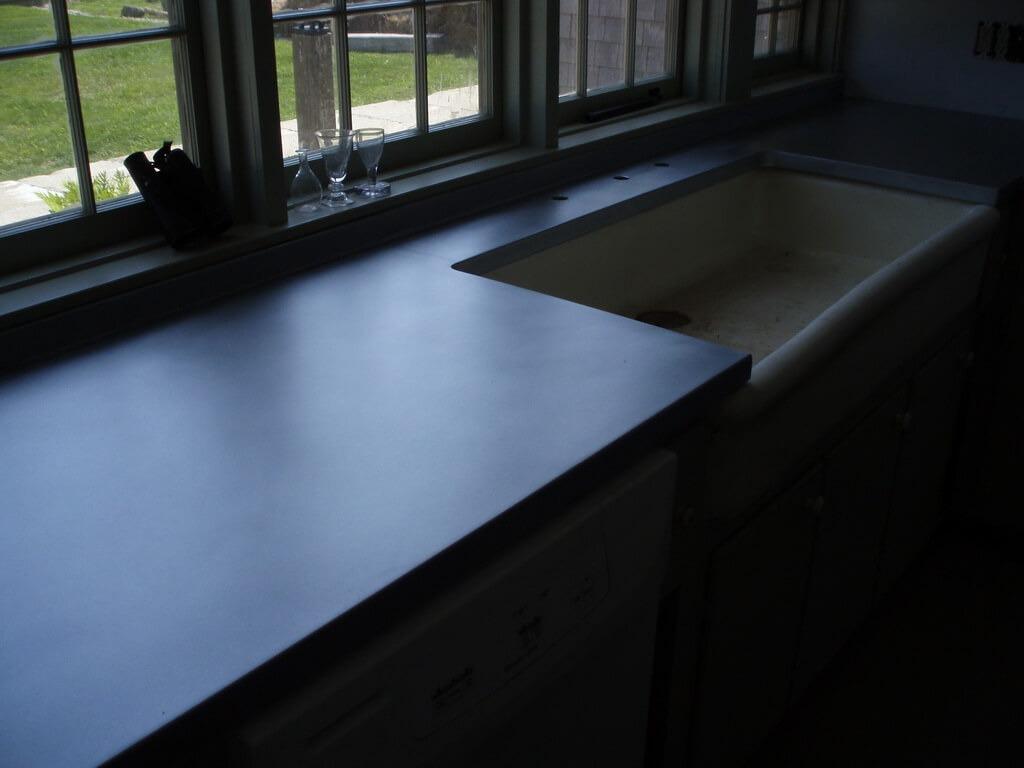 Matte Zinc Countertop with Farm Sink Cutout - Brooks Custom