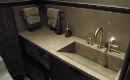 Ramp Style Concrete Vanity Sink