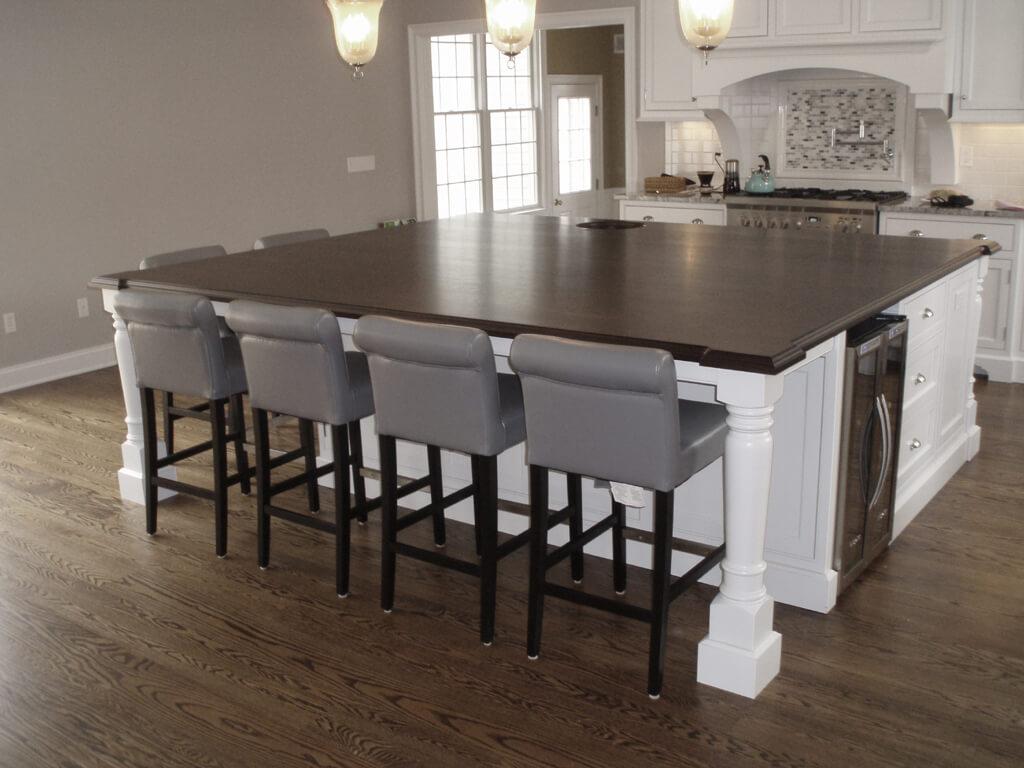 Premium Wide Plank Wood Countertops Brooks Custom