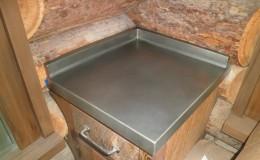 Textured Zinc Countertop