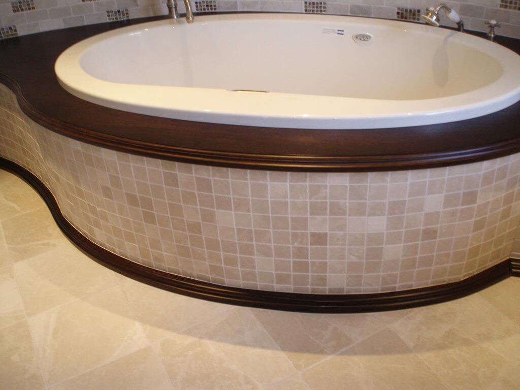 Walnut Bathtub Surround - Brooks Custom