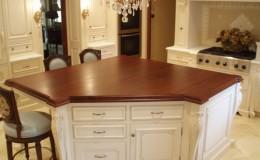 Classic Teak Wide Plank Kitchen Island Wood Countertop