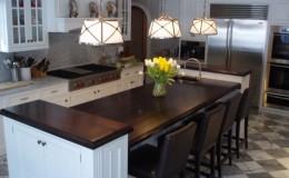 Three Piece Walnut Kitchen Island Wood Countertop