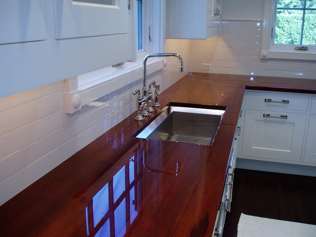 Premium wide plank wood countertops brooks custom - High Polish Premium Wide Plank Walnut Countertop