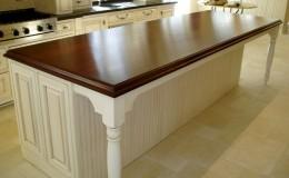 Teak Wide Plank Island Wood Countertop