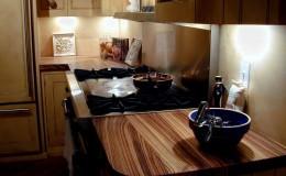 Premium Wide Plank Zebrawood Countertop