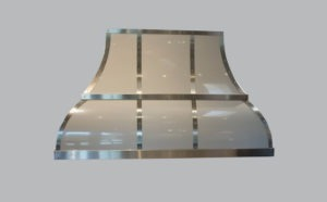 custom enamel and stainless steel range hood