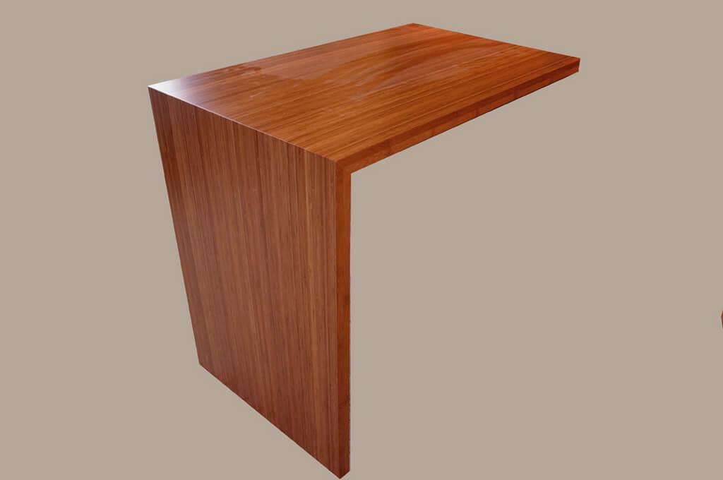 Bamboo Edge Grain Waterfall Style Wood Countertop
