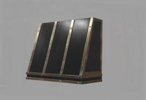 slant front cold cast stainless steel range hood