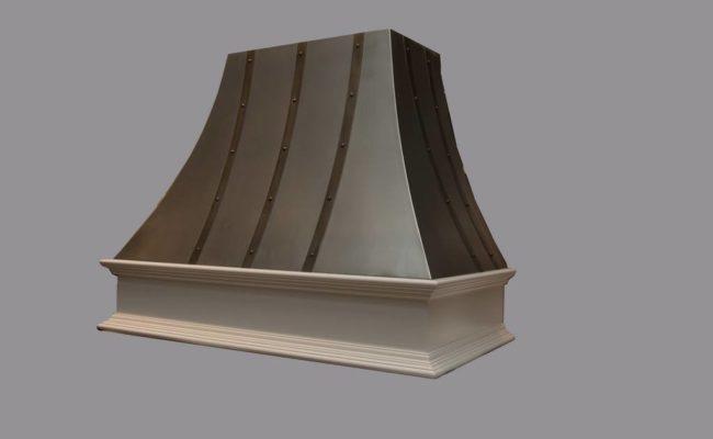 Curved Zinc Artisan Cast Range Hood
