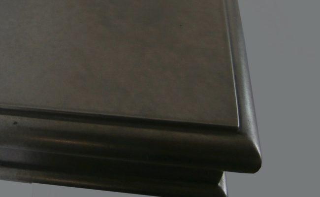 Decorative Artisan Cast Nickel Wall Shelf