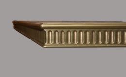 Corinthian Artisan Cast Metal Edge Profile in Brass