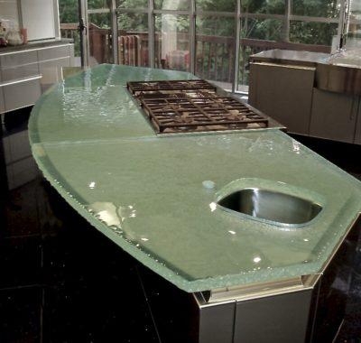 Fusion Glass Countertop