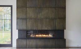 Zinc Fireplace Surround with Patina Finish