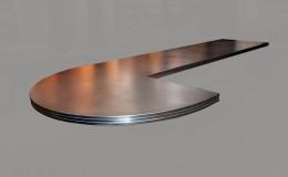 Artisan Cast Zinc Island Countertop