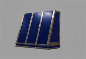 custom artisan cast slant front hood with blue enamel body