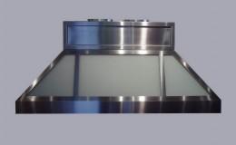 Pyramid Shape Stainless Steel and Glass Range Hood
