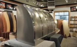Side View of Custom Stainless Steel Range Hood