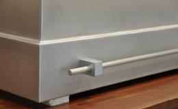 Zinc Range Hood with Rail Detail