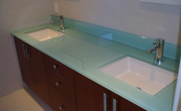 Backpainted Glass Countertop For Bathroom Vanity