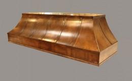 Patina Finish Copper Range Hood
