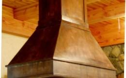 :arge Patina Finish Copper Range Hood