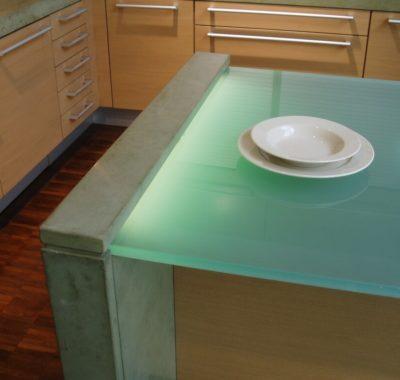Glowing Glass Countertops