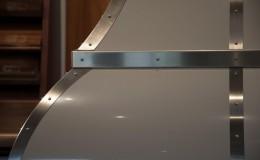 Stainless Steel Detail Closeup on Bell Shape Range Hood