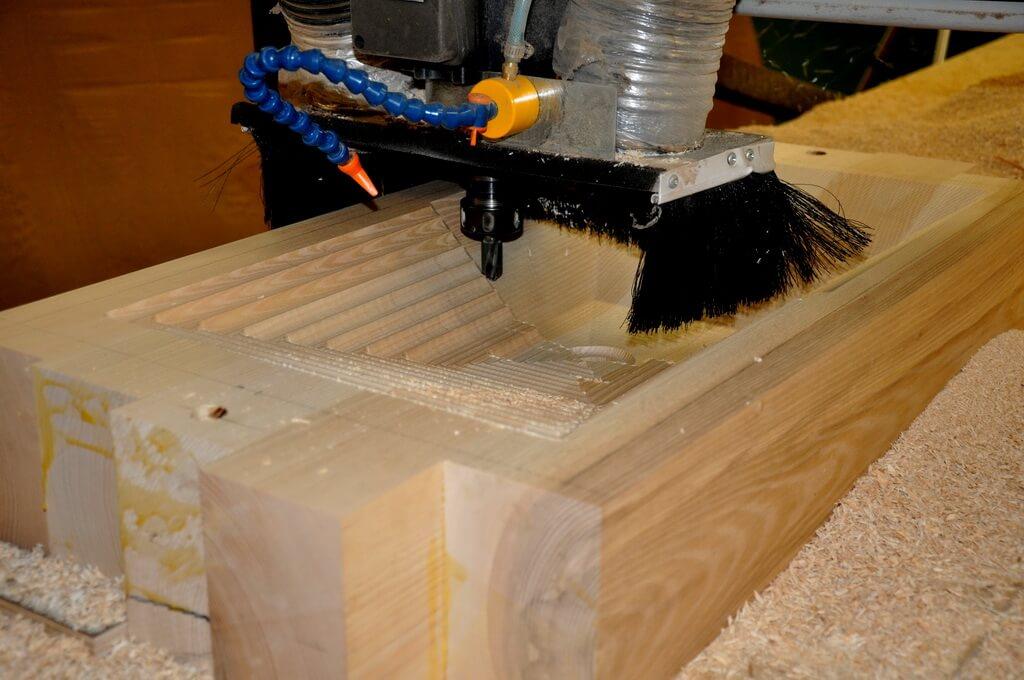... Carving An Edge Grain Wood Sink ...