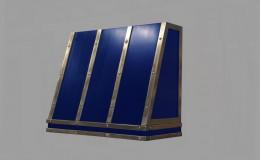 Custom Blue Artisan Cast Metal Range Hood