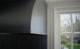 Zinc Range Hood Corner Detail