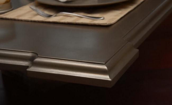 Pewter Artisan Cast Countertop Edge Closeup