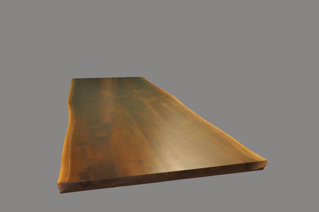 Live edge wood countertops brooks custom for Finishing live edge wood