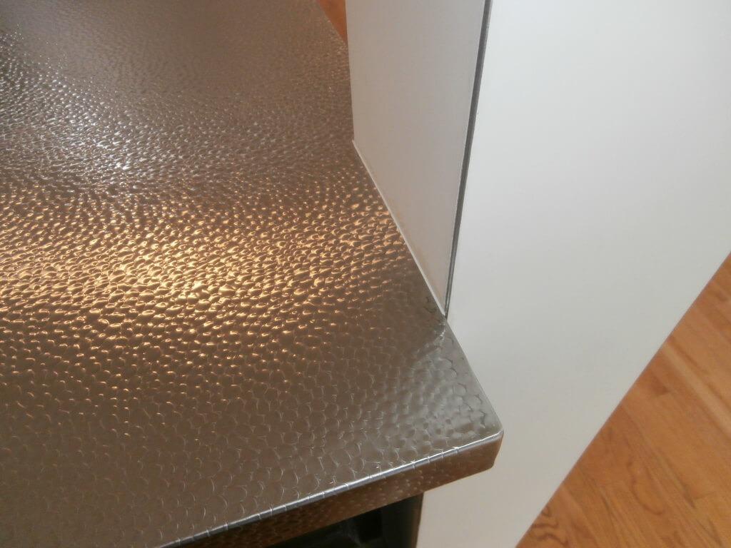 metal textures for countertops brooks custom
